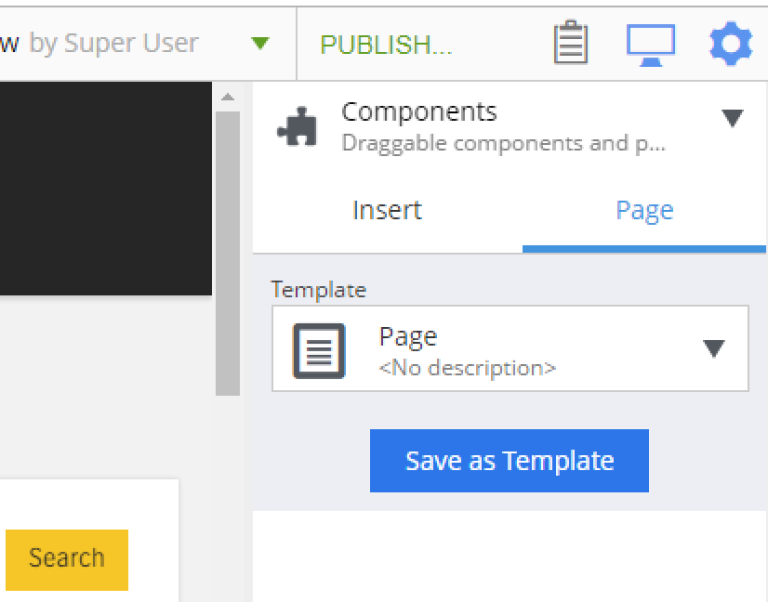 widgets components page
