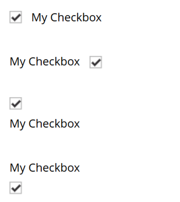 two checkboxes one is selected the other is not