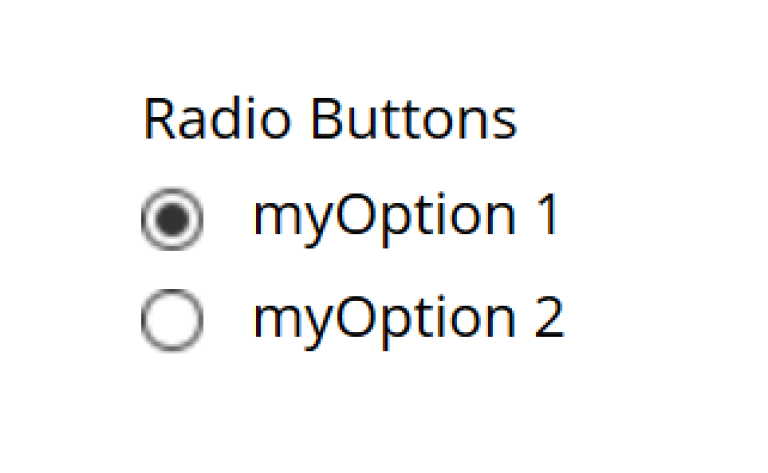 two button where one of them is selected