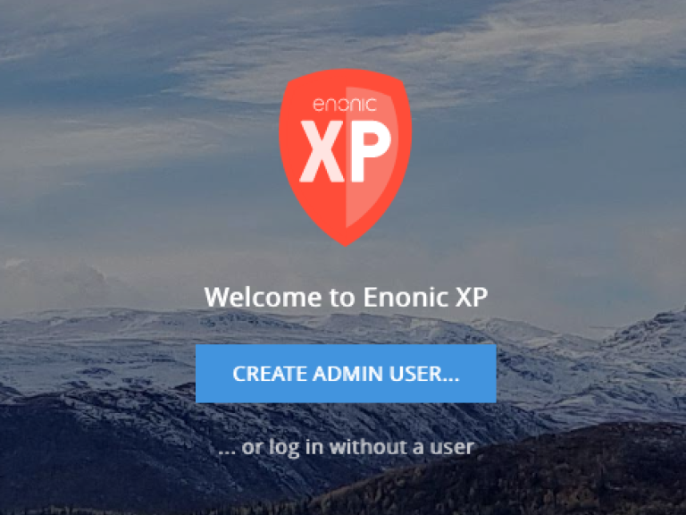 Screenshot of the initial XP login - with ability to skip creation of user
